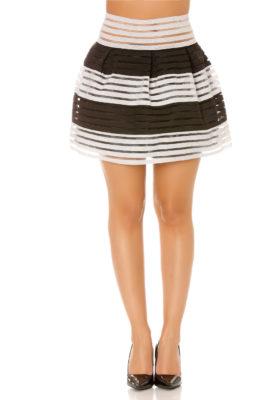 jupe boule noire blanche